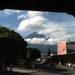 The view from our coffee house in Guatemala.